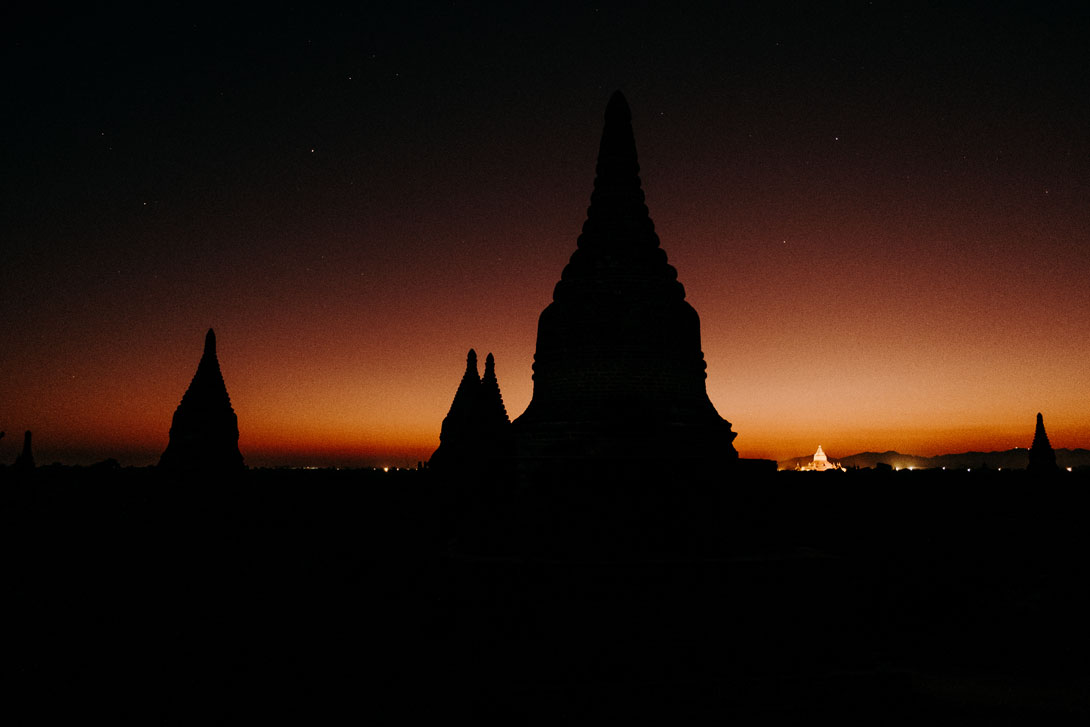 Vychutnejte si Bagan ještě před východem slunce