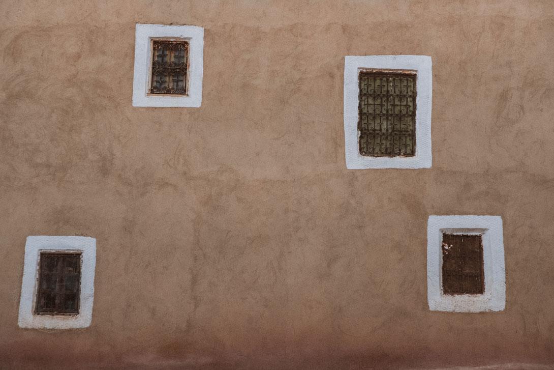 Okna v Ait Ben Haddou