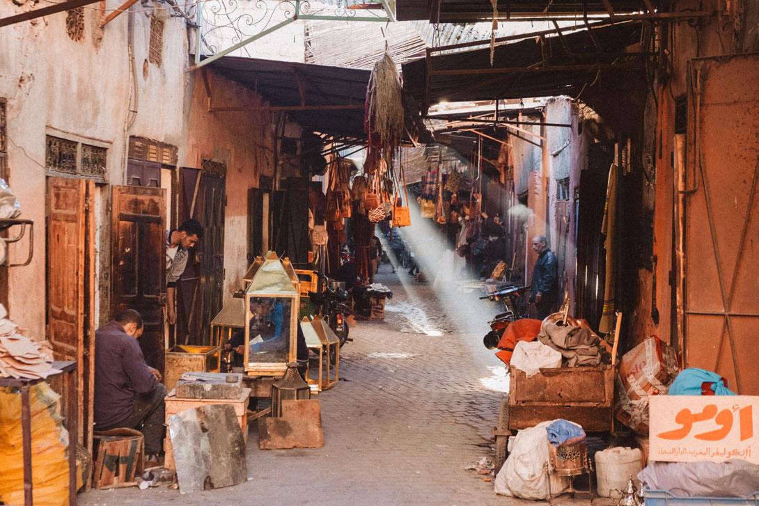 Tržnice v Marrakéši